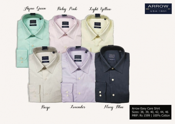 Arrow customized shirts by Taste of Fabric