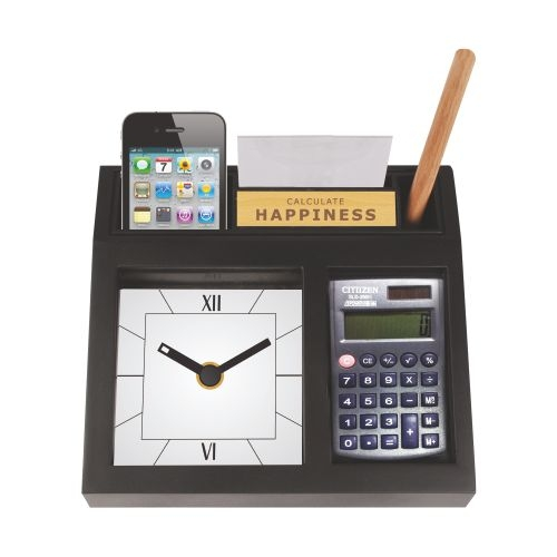 Custom desktop clock with calculator