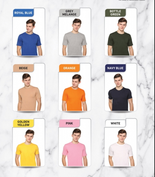 dfnk promotional round neck polyester tshirt