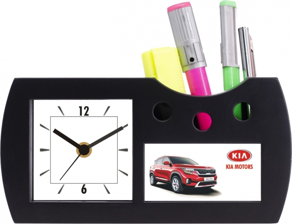 Kia motors custom desktop clock