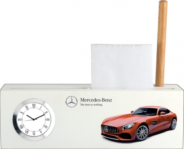 Mercedes Benz custom desktop clock