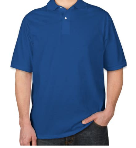 Micropolyester Polo t-shirt for sublimation