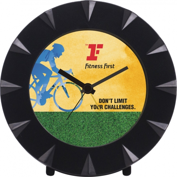 taste of fabric fitness first table clock