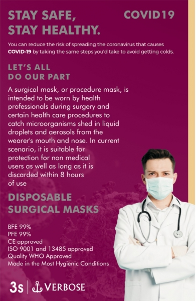 Disposable 3phy surgical Mask in Delhi
