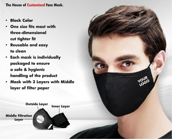 Customized Cotton Face mask by Taste of Fabric